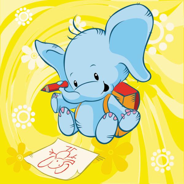 4 Ilustraciones infantiles vectorizadas de animales - PuertoPixel.