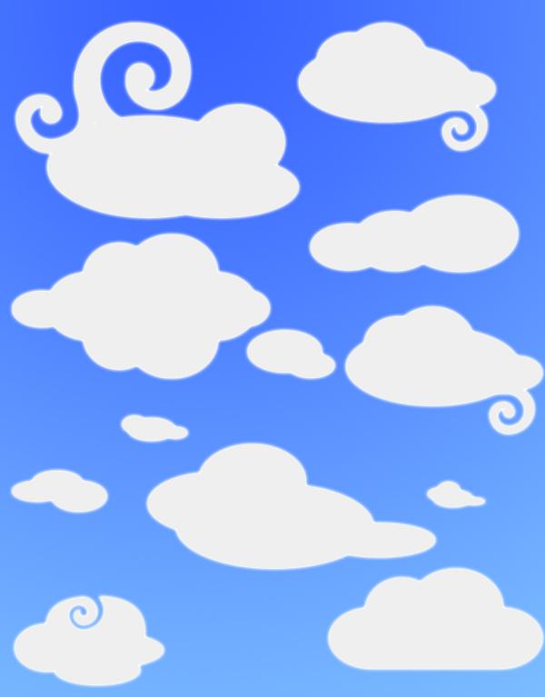 formas-de-nubes-para-photoshop