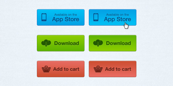 Botones PSD gratis