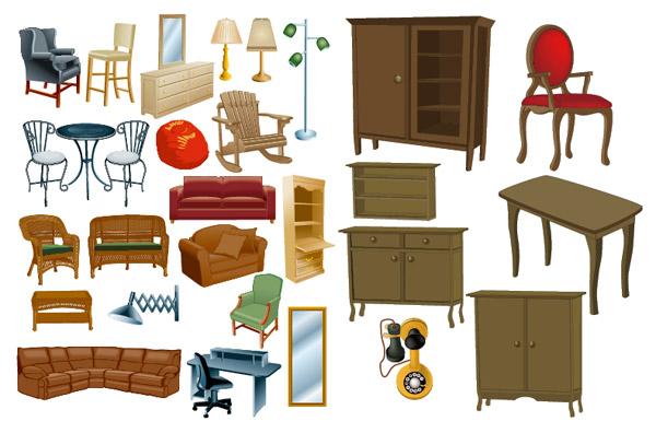 170 muebles y electrodom sticos vectorizados