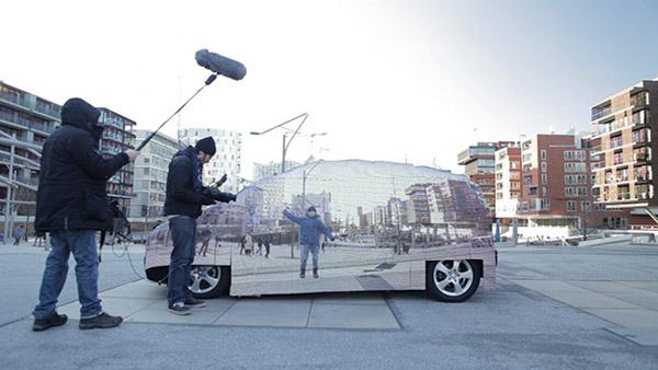 Mercedes Benz presentó el auto invisible