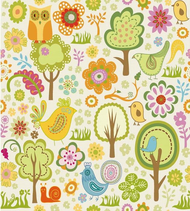 Dibujos infantiles con animales flores y plantas en - Fotos de animales infantiles ...