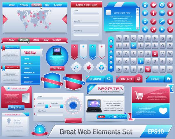 Botones y Elementos UI PSD AI