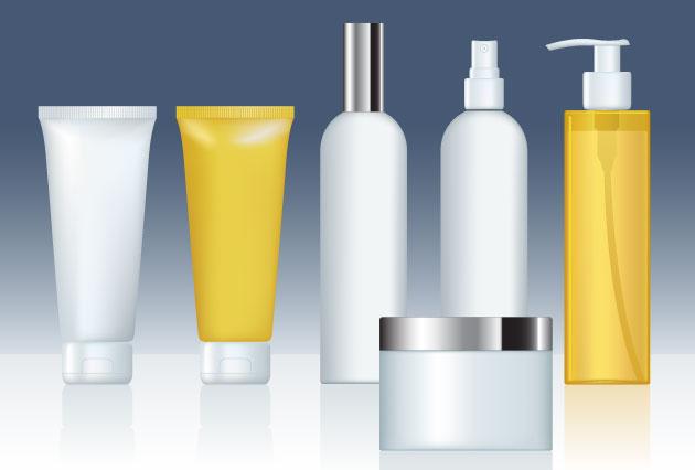 cosmeticos vectorizados y belleza