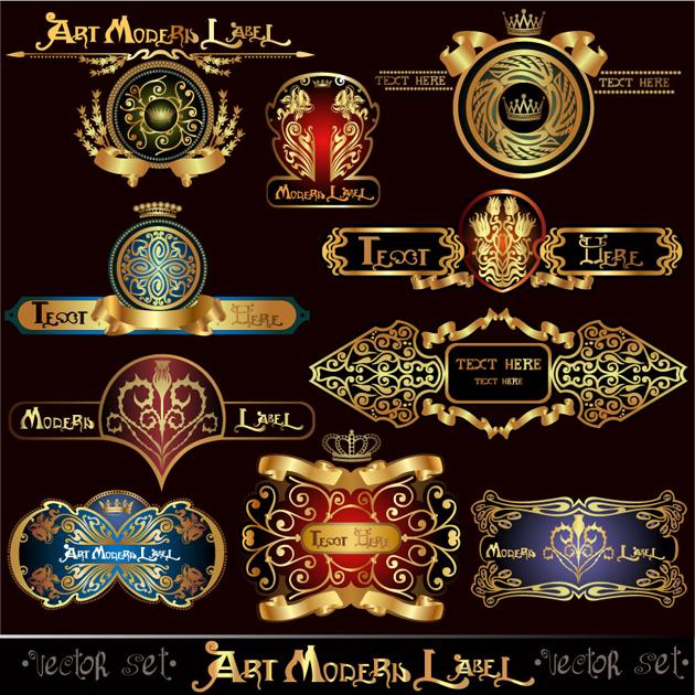 Ornamentos vectorizados