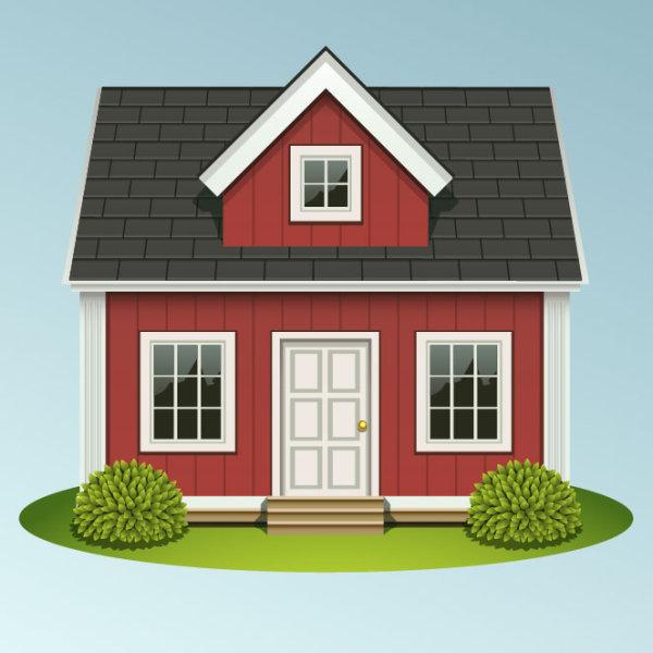 5 casas vectorizadas estilo real state puerto pixel types of houses