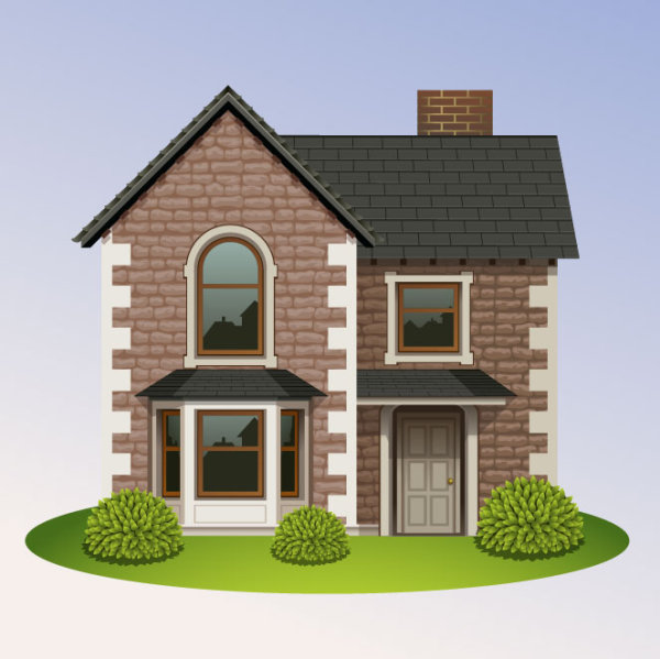 5 casas vectorizadas estilo real state for House images free download