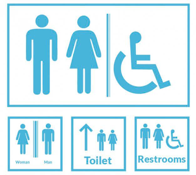 señales baños publicos