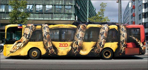 Publicidades creativas en autobuses