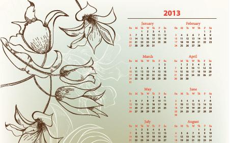 calendarios-2013-en-vector