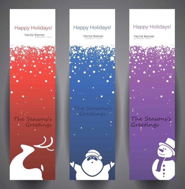 Banners de navidad vector