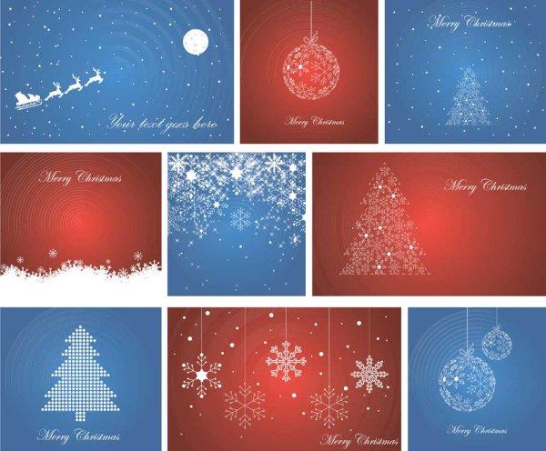 Tarjetas de navidad vectorizadas - Disenar tarjetas de navidad ...