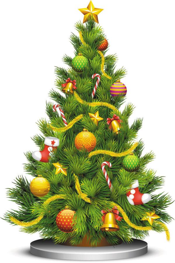 4 arboles de navidad vectorizados for Fotos arbol navidad
