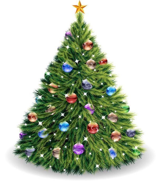4 arboles de navidad vectorizados - Arboles adornados de navidad ...
