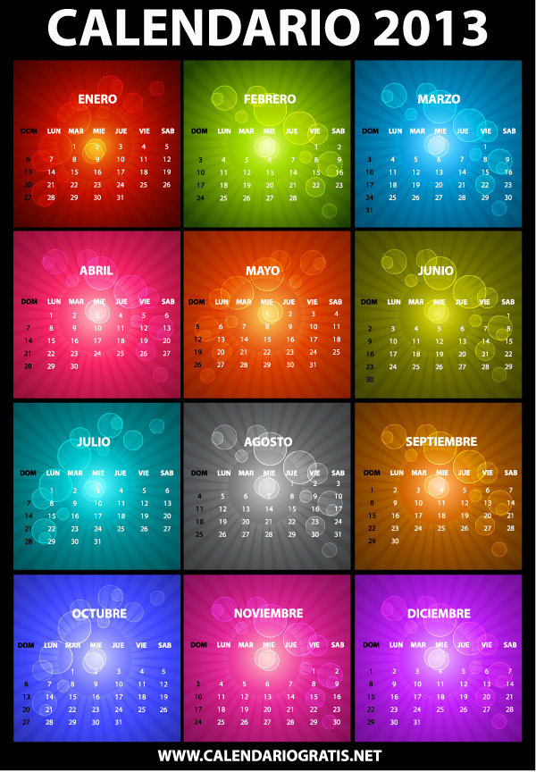 calendario 2013 espanol
