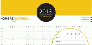 calendario 2013 horizontal