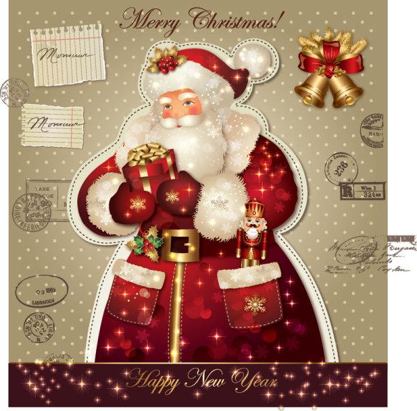 Beautiful Christmas Cards of Santa Claus