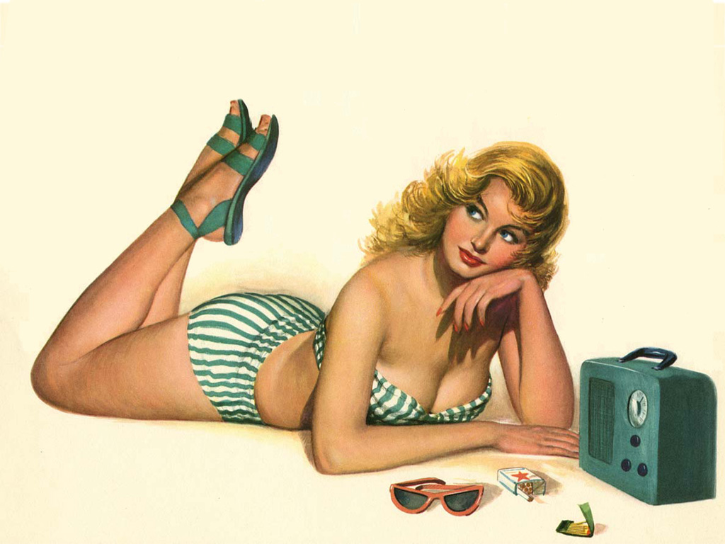 Sexy pin up girl wallpaper