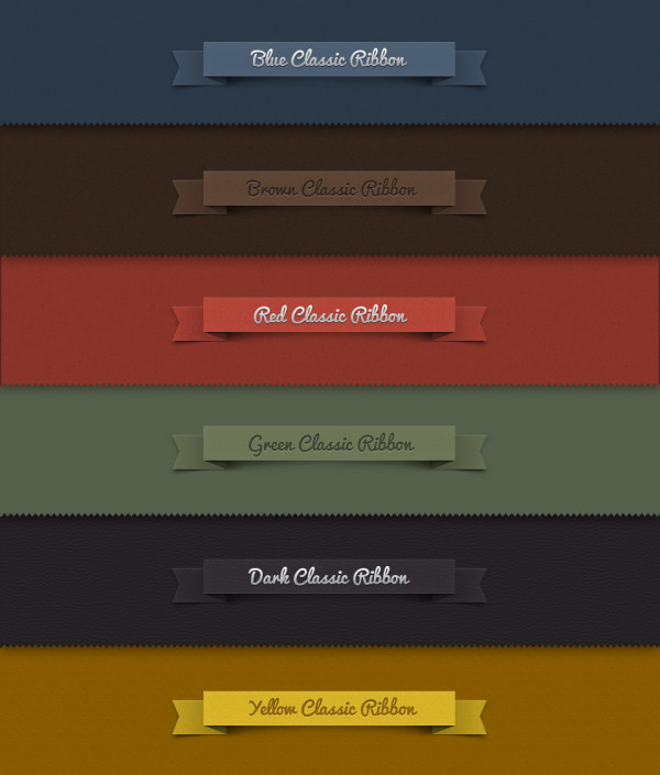 ribbons psd