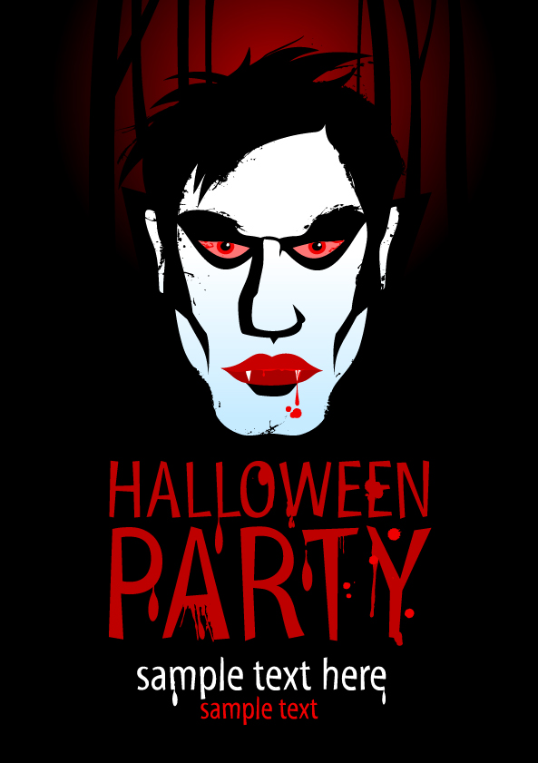 2 - poster dracula vector halloween