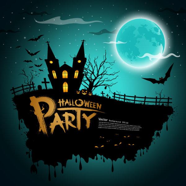 3 - poster terror halloween vectorizado