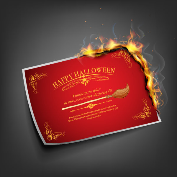 4 - tarjeta halloween vectorizada