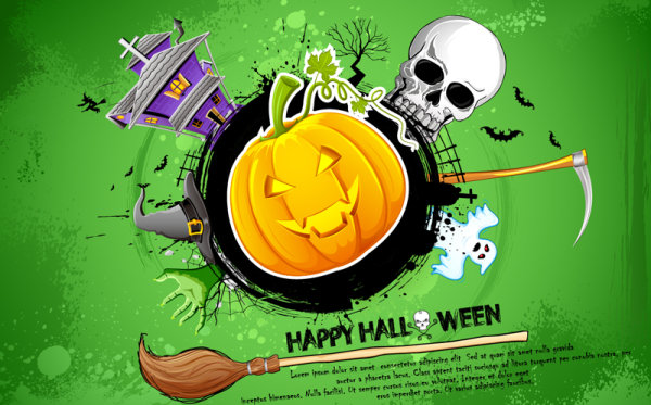 5 - Tarjeta halloween calabaza calavera halloween