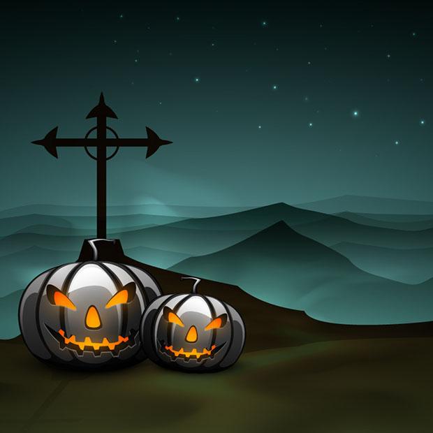 calabaza vector halloween