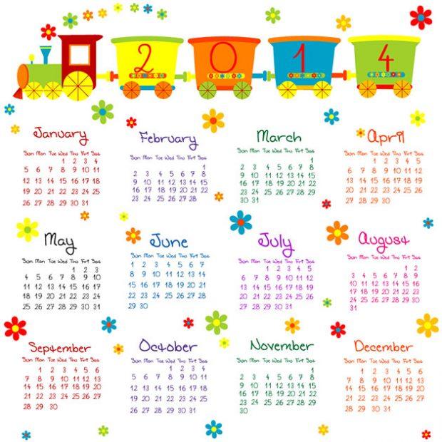 2013 Calendars For Kids 2013 2013 Calendars For Kids Vector Vector ...