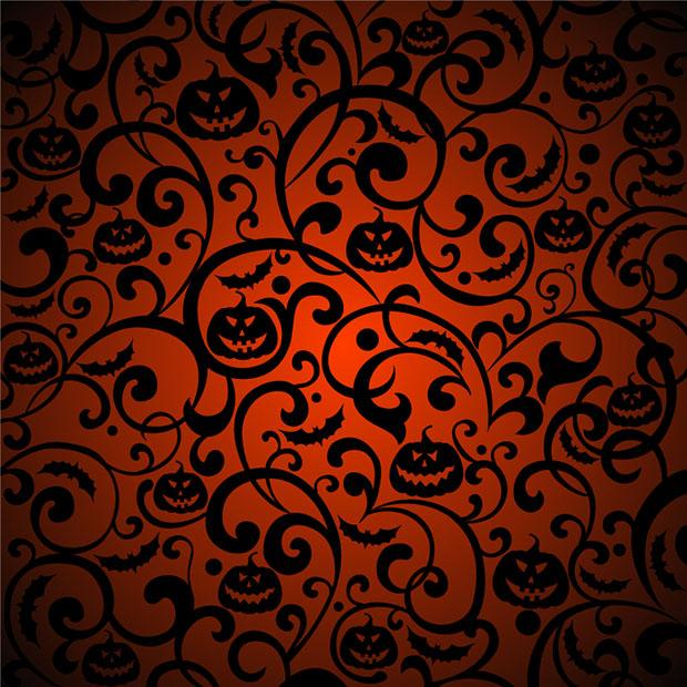 fondo de halloween vectorizado