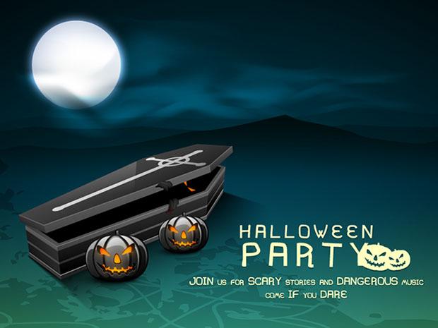 tarjeta invitacion vector halloween