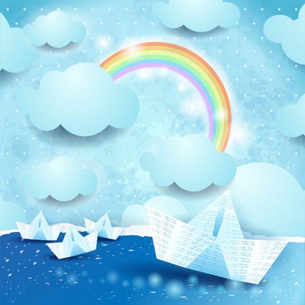 Paper-Boat-Rainbow-Baby-Dreams