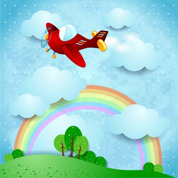 Rainbow-Aircraft-Baby-Dreams
