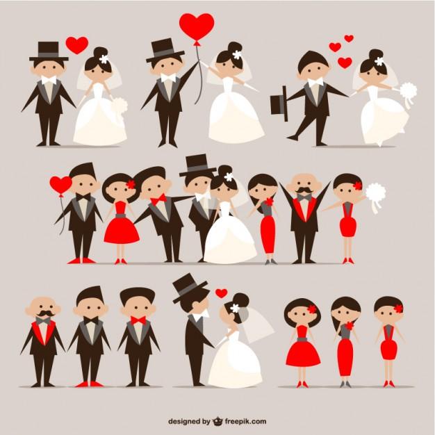 vectores-de-novios-de-boda