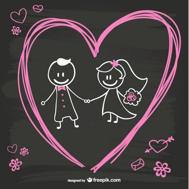 vectores-de-novios-recien-casados