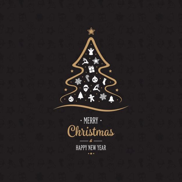 arbol-y-fondo-de-navidad