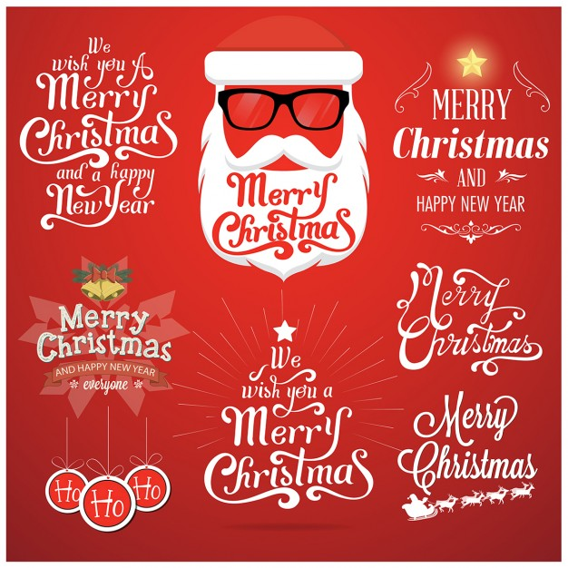 christmas-elements-on-a-red-background