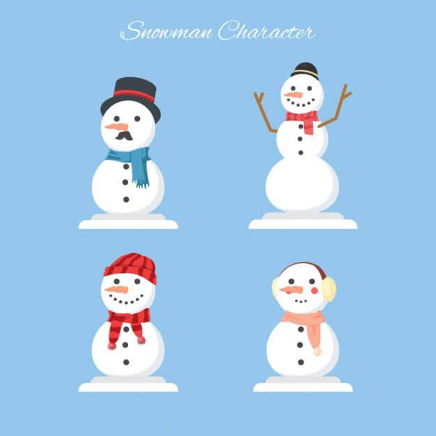 munecos-de-nieve-vectorizados