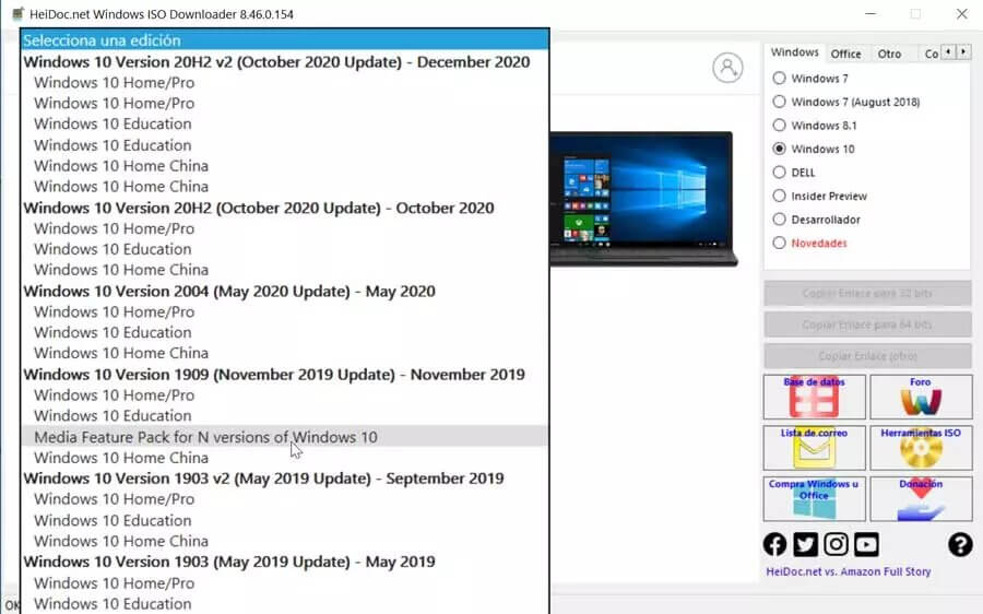 Microsoft Windows and Office ISO Download versiones del sistema operativo