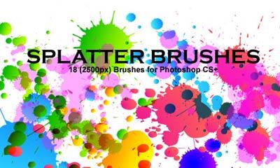 Pinceles de manchas y salpicaduras para photoshop - Salpicaduras de pintura ...